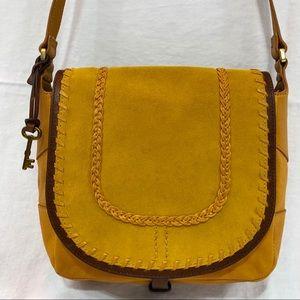 FOSSIL EUC Lennox Small Bag . Yellow Mustard color